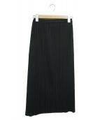 PLEATS PLEASE(プリーツプリーズ)の古着「ベーシックプリーツスカート」|ブラック