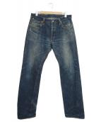Stevenson Overall Co.(スティーブンソンオーバーオール)の古着「リジットデニム」|インディゴ