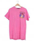 LONELY/論理(ロンリー)の古着「プリントTシャツ」|ピンク