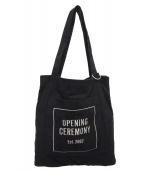 OPENING CEREMONY(オープニングセレモニー)の古着「スウェードトートバッグ」 ブラック