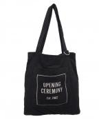 OPENING CEREMONY(オープニングセレモニー)の古着「スウェードトートバッグ」|ブラック