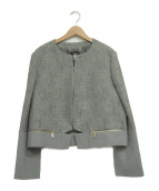 MAX&Co.(マックスアンドコー)の古着「ノーカラージャケット」|グレー
