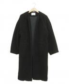 RIM.ARK(リムアーク)の古着「ノーカラーボアコート」|ブラック