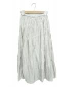 GALLARDA GALANTE(ガリャルダガランテ)の古着「シャイニープリーツスカート」|グレー