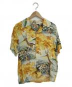 Sun Surf(サンサーフ)の古着「アロハシャツ」|ホワイト×イエロー