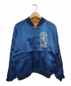 WAREHOUSE(ウエアハウス)の古着「スーベニアジャケット」|ブルー×ピンク