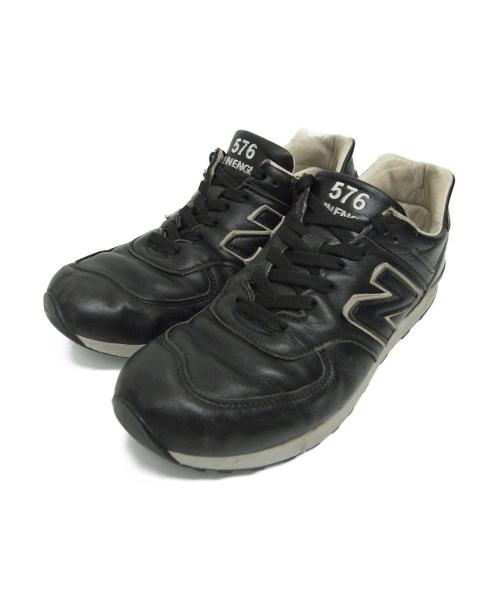 NEW BALANCE(ニューバランス)NEW BALANCE (ニューバランス) レザースニーカー ブラック サイズ:9 1/2 LM576BKU イギリス製 廃番品 LIMITED EDITIONの古着・服飾アイテム