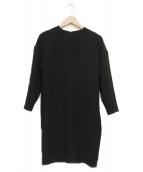 YOKO CHAN(ヨーコチャン)の古着「ドロップショルダードレス」|ブラック