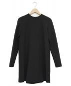 YOKO CHAN(ヨーコチャン)の古着「バックボックスプリーツドレス」|ブラック