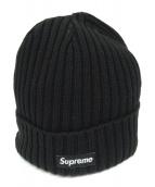 Supreme(シュプリーム)の古着「ビーニーニット帽」|ブラック
