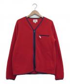 Battenwear(バテンウェア)の古着「フリースジャケット」 レッド