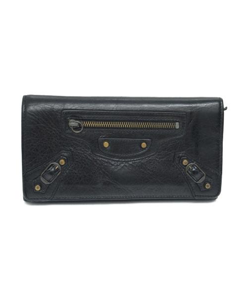 BALENCIAGA(バレンシアガ)BALENCIAGA (バレンシアガ) 長財布 ブラック サイズ:下記参照 163471 496085の古着・服飾アイテム