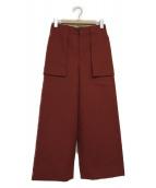 scye(サイ)の古着「ウールワイドパンツ」|ブラウン