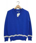 SLOANE(スローン)の古着「Vネックラインイニット」|ブルー