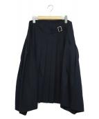 tricot COMME des GARCONS(トリコ コムデギャルソン)の古着「変形プリーツスカート」 ネイビー