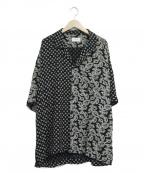 RHUDE(ルード)の古着「総柄オープンカラーシャツ」|ブラック