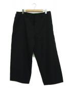 Y's(ワイズ)の古着「ウールギャバワイドパンツ」|ブラック