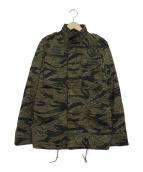 Hysteric Glamour ×THEATER8(ヒステリックグラマー×シアターエイト)の古着「タイガーカモM65ジャケット」|オリーブ