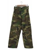 US ARMY(ユーエスアーミー)の古着「[古着]ウッドランドカモオーバーパンツ」|オリーブ