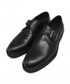 BOEMOS(ボエモス)の古着「モンクストラップシューズ」 ブラック