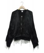SASQUATCHfabrix.(サスクワァッチファブリックス)の古着「まれびとスーベニアジャケット」|ブラック
