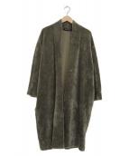 mizuiro-ind(ミズイロインド)の古着「ノーカラーボアコート」|グレー