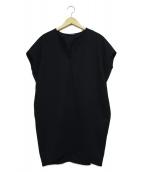 YOKO CHAN(ヨーコチャン)の古着「ノースリーブコクーンドレス」|ブラック