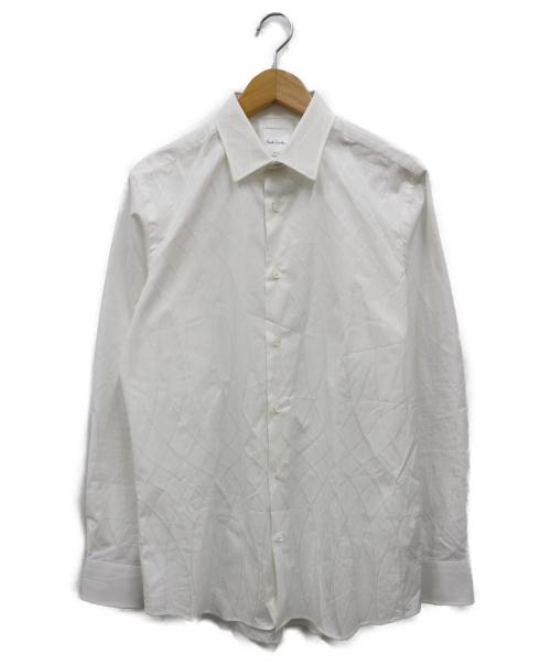 PAUL SMITH(ポールスミス)Paul Smith (ポールスミス) フローラルジャガードドレスシャツ ホワイト サイズ:Mの古着・服飾アイテム