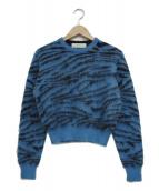 TOGA PULLA(トーガプルラ)の古着「クルーネックニット」|ブルー×ブラック