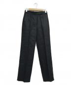 DES PRES(デプレ)の古着「リネンツイルハイウエストセミワイドパンツ」|ネイビー