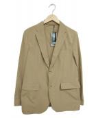 BEAMS(ビームス)の古着「ポリエステルツイルストレッチ2ボタンジャケット」|ベージュ