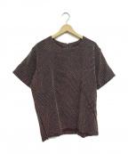 KUON(クオン)の古着「刺し子カットソー」|ブラウン