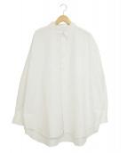 Graphpaper(グラフペーパー)の古着「オックスフォードオーバーサイズボタンダウンシャツ」 ホワイト