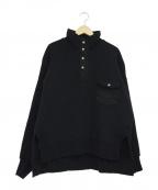 Ujoh(ウジョー)の古着「スタンドカラープルオーバー」|ブラック