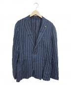 giannetto(ジャンネット)の古着「リネンジャケット」|ネイビー