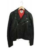 ACNE STUDIOS(アクネステュディオズ)の古着「ライダースジャケット」|ブラック