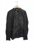 ()の古着「シープレザージャケット」 ブラック