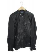 DIESEL(ディーゼル)の古着「シープレザージャケット」|ブラック