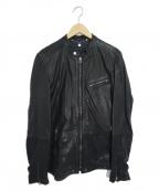 DIESEL()の古着「シープレザージャケット」|ブラック