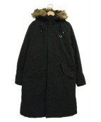 FRED PERRY(フレッドペリー)の古着「ライナー付モッズコート」|ブラック