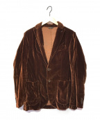Errico Formicola(エリコフォルミコラ)の古着「ベロアジャケット」 ブラウン