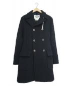 CAMPLIN(カンプリン)の古着「ビッグPコート」|ネイビー