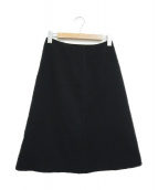 Maison Margiela(メゾンマルジェラ)の古着「Aラインフレアスカート」|ブラック