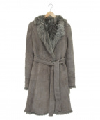 NATURAL BEAUTY(ナチュラルビューティー)の古着「ムートンコート」 グレー