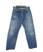 glamb(グラム)の古着「リメイクワイドデニム」|インディゴ