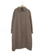HARE()の古着「ウールビッグステンカラーコート」|ブラウン