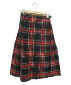 ONEIL OF DUBLIN(オニールオブダブリン)の古着「チェックラップスカート」|レッド×ネイビー