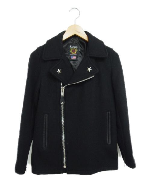 Schott(ショット)Schott (ショット) メルトンライダースジャケット ブラック サイズ:14 Arrowの古着・服飾アイテム