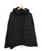MONKEY TIME(モンキータイム)の古着「マルチポケットジャケット」|ブラック