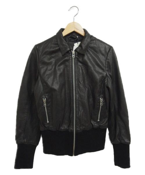 goosecraft(グースクラフト)goosecraft (グースクラフト) シープスキンジャケット ブラック サイズ:Sの古着・服飾アイテム